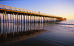 Seacliff State Beach at sunset