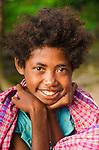 Sarong-clad girl, Lobo Village, Papua.