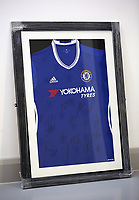 A Chelsea top be sold at auction by Swansea City FC Community Trust. Fairwood Training Complex in Swansea, Wales, UK. Wednesday 29 March 2017