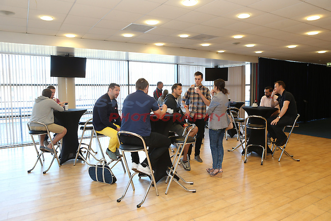 SSE breakfast with Ryan Jones.<br /> Millennium Stadium<br /> 18.04.15<br /> &copy;Steve Pope - FOTOWALES
