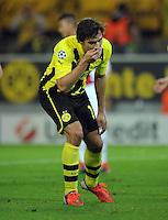 FUSSBALL   CHAMPIONS LEAGUE   SAISON 2012/2013   GRUPPENPHASE   Borussia Dortmund - Ajax Amsterdam                            18.09.2012 Mats Hummels (Borussia Dortmund) ist nach seinen verschossenen Elfmeter enttaeuscht