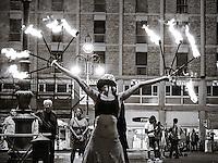 Lecce, artista da strada