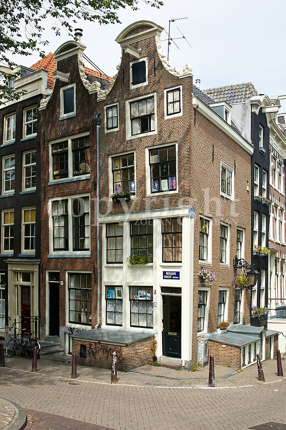 Old houses  in Amsterdam, The Netherlands, Europe