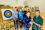 Maura Daly who was presented with a gold medel in the  Cadet Recurve at UL she scored 893 out of 1200 and Patrick Kelly Senoir Coach who came second in his catagory.They are members of An Riocht Archery Club, also in the picture are l-r  Kian Wall, Michael Wall, Marcus Nolan and Richard Williams
