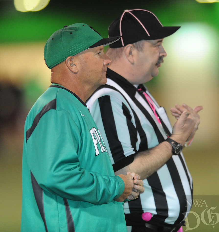 NWA Democrat-Gazette/ANDY SHUPE<br /> of Greenland of Elkins Friday, Oct. 28, 2016, during the first half of play at Jonathan Ramey Memorial Stadium in Greenland. Visit nwadg.com/photos to see more photographs from the game.