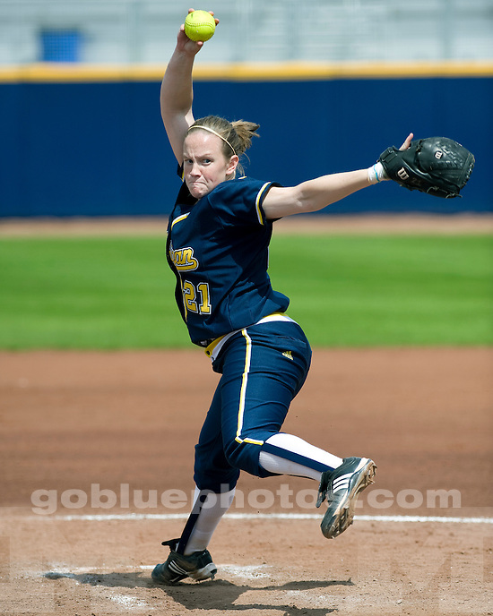University of Michigan softball 3-2 victory over Iowa at Alumni Field in Ann Arbor, MI, on April 24, 2011.