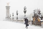 Paris, France. 8 Decembre 2010.Pont Alexandre III..Paris, France. December 8th 2010.Pont Alexandre III.