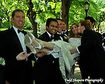 Brida and groom celebrate, stroll, dance  before their ceremony in Central Park, New York City...