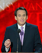 Former Governor Tim Pawlenty (Republican of Minnesota) makes remarks at the 2012 Republican National Convention in Tampa Bay, Florida on Wednesday, August 29, 2012.  .Credit: Ron Sachs / CNP.(RESTRICTION: NO New York or New Jersey Newspapers or newspapers within a 75 mile radius of New York City)