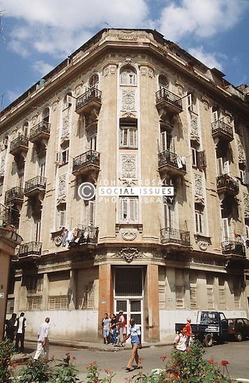 Building on O'Reilly Street; Havana Vieja; Havana Cuba,