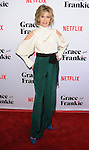 Jane Fonda arriving at the Grace and Frankie Season 2 Premiere held at Harmony Gold on May 1, 2016