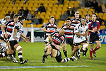 Tanner Vili loses the ball once  again as he is taken to ground. Air New Zealand Cup rugby game between Counties Manukau Steelers & Hawkes Bay, played at Mt Smart Stadium on the 23rd of August 2007. Hawkes Bay won 38 - 14.