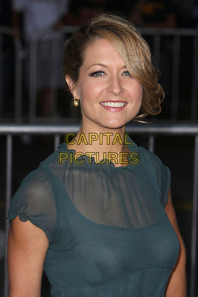 "ALI HILLIS.""The Heartbreak Kid"" Los Angeles Premiere held at Mann's Village Theatre, Westwood, California, USA..September 27th, 2007.headshot portrait green blue sheer .CAP/ADM/CH.©Charles Harris/AdMedia/Capital Pictures."