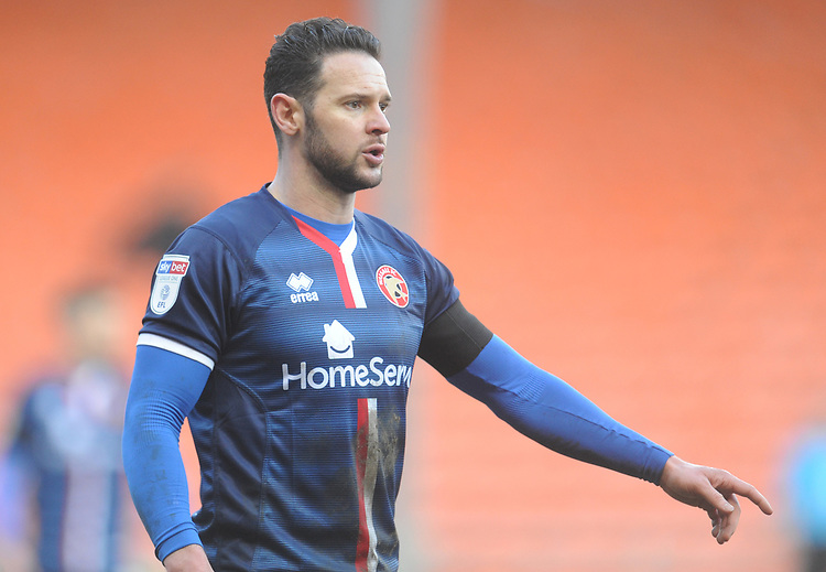 Walsall's Matt Jarvis<br /> <br /> Photographer Kevin Barnes/CameraSport<br /> <br /> The EFL Sky Bet League One - Blackpool v Walsall - Saturday 9th February 2019 - Bloomfield Road - Blackpool<br /> <br /> World Copyright © 2019 CameraSport. All rights reserved. 43 Linden Ave. Countesthorpe. Leicester. England. LE8 5PG - Tel: +44 (0) 116 277 4147 - admin@camerasport.com - www.camerasport.com