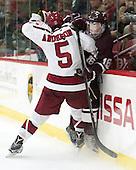 Clay Anderson (Harvard - 5), Sebastian Weberg (Colgate - 16) -  - The Harvard University Crimson defeated the visiting Colgate University Raiders 7-4 (EN) on Saturday, February 20, 2016, at Bright-Landry Hockey Center in Boston, Massachusetts.