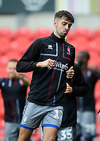 Lincoln City's Ellis Chapman during the pre-match warm-up<br /> <br /> Photographer Chris Vaughan/CameraSport<br /> <br /> EFL Leasing.com Trophy - Northern Section - Group H - Doncaster Rovers v Lincoln City - Tuesday 3rd September 2019 - Keepmoat Stadium - Doncaster<br />  <br /> World Copyright © 2018 CameraSport. All rights reserved. 43 Linden Ave. Countesthorpe. Leicester. England. LE8 5PG - Tel: +44 (0) 116 277 4147 - admin@camerasport.com - www.camerasport.com