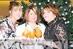 TOAST: Angela Enright and Jackie Mannix (Ballybunion) and Sandra O'Callaghan (Tralee) toasting Womens Christmas on Saturday night at The Manor West Hotel, Tralee.