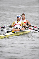 Henley, GREAT BRITAIN, Double Sculls Challenge Cup, California Rowing Club. Bow, Wesley PIERMARINI and Elliot HOVEY, 2008 Henley Royal Regatta  on Saturday, 05/07/2008,  Henley on Thames. ENGLAND. [Mandatory Credit:  Peter SPURRIER / Intersport Images] Rowing Courses, Henley Reach, Henley, ENGLAND . HRR
