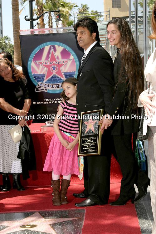 Erik Estrada , wife & and daughter.Erik Estrada receives Star on the Walk of Fame.Hollywood & Highland.Los Angeles, CA.April 19, 2007.©2007 Kathy Hutchins / Hutchins Photo....