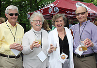 NWA Democrat-Gazette/CARIN SCHOPPMEYER Charles Taylor (from left), Nancy McCoy, Lola Behrends and Jeff Siemers enjoy Gardens on Tap.