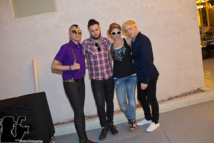 """Fremont Street Experience, Las Vegas Convention and Visitors Authority (LVCVA), hosted a free """"Camp Vegas"""" concert by the band Neon Trees on Thursday, August 12 2010"""