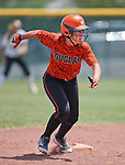 Douglas Tigers' Kelly Sonnemann runs against the Galena Grizzlies in a first round game of the NIAA northern region softball tournament in Reno, Nev., on Thursday, May 15, 2014. Galena won 5-4.<br /> Photo by Cathleen Allison