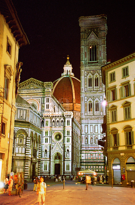 Baptistry, Cathedral and Bell Tower at night