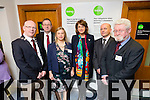 At the official opening of the Intreo office in Godfrey Place by Tánaiste, Joan Burton. Pictured Mayor of Kerry Cllr. John Brassil, Neil Kelly, Divisional Manager SW Region,  Maureen Quirke, Manager of Godfrey Place, Joan Burton, Ger Curtin, Area manager, Edward St. John Herlihy, Area Manager, Godfrey Place