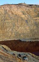 Berkeley Pit Copper Mine, Butte, Montana..Open pit mine