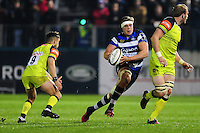 Tom Ellis of Bath Rugby goes on the attack. Anglo-Welsh Cup match, between Bath Rugby and Leicester Tigers on November 4, 2016 at the Recreation Ground in Bath, England. Photo by: Patrick Khachfe / Onside Images