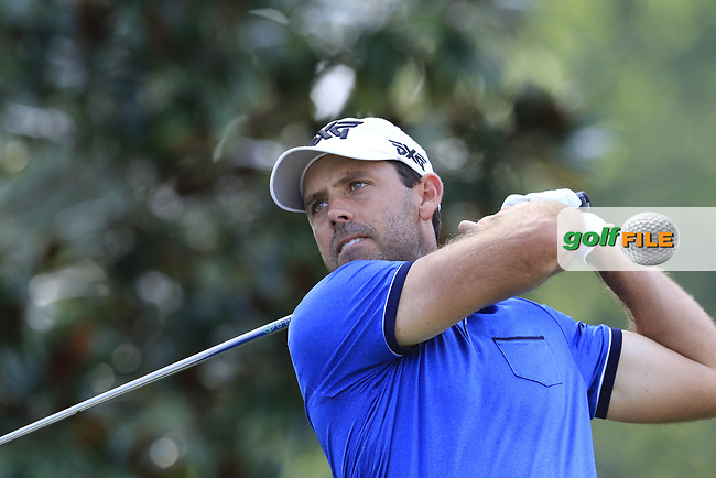 Charl Schwartzel (RSA) tees off the 15th tee during Thursday's Round 1 of the 2017 PGA Championship held at Quail Hollow Golf Club, Charlotte, North Carolina, USA. 10th August 2017.<br /> Picture: Eoin Clarke | Golffile<br /> <br /> <br /> All photos usage must carry mandatory copyright credit (&copy; Golffile | Eoin Clarke)