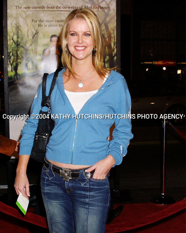 "©2004 KATHY HUTCHINS / HUTCHINS PHOTO.""ALONG CAME POLLY"" PREMIERE.HOLLYWOOD, CA.JANUARY 12, 2004.MAEVE QUINLAN"