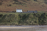 Pictured: The National Trust cottage by Rhossili beach. Tuesday 18 February 2020<br /> Re: General view of Rhossili in the Gower Peninsula near Swansea, Wales, UK.