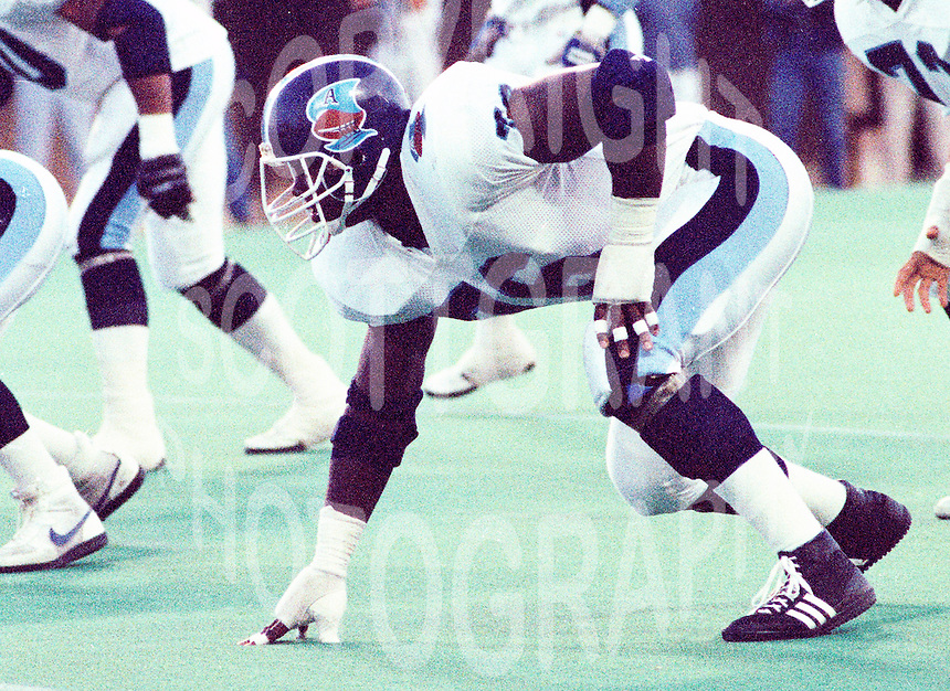 Mark Seale Toronto Argonauts 1987. Photo John Bradley