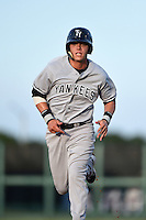 Tampa Yankees first baseman Matt Snyder (29) running the bases during a game against the Lakeland Flying Tigers on April 9, 2015 at Joker Marchant Stadium in Lakeland, Florida.  Tampa defeated Lakeland 2-0.  (Mike Janes/Four Seam Images)