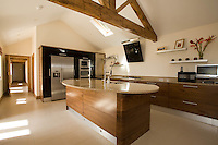 Nottingham photographer Spike Photography took this picture of a high tech kitchen in a barn conversion in Nottinghamshire