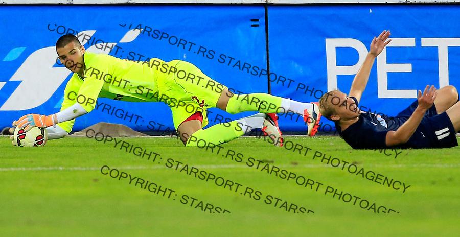 Fudbal-Friendly match-Prijateljski mec<br /> Crvena Zvezda V Mordovia Saransk<br /> goalkeeper Filip Manojlovic (L)<br /> Beograd, 12.07.2015.<br /> foto: Srdjan Stevanovic/Starsportphoto&copy;