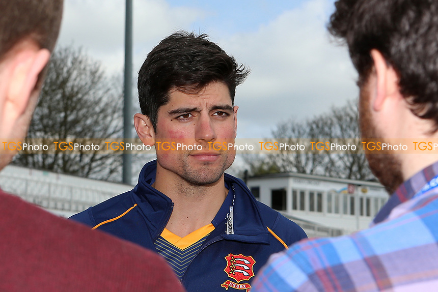 Alastair Cook of Essex looks on during the Essex CCC Press Day at The Cloudfm County Ground on 5th April 2017