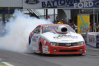 Apr. 28, 2013; Baytown, TX, USA: NHRA pro stock driver Greg Stanfield during the Spring Nationals at Royal Purple Raceway. Mandatory Credit: Mark J. Rebilas-