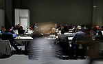 Participants sits at laptop computers at a workspace at the UNFCCC COP25 climate conference on December 3, 2019 in Madrid, Spain. The conference brings together world leaders, climate activists, NGOs, indigenous people and others together for two weeks in an effort to focus global policy makers on concrete steps for heading off a further rise in global temperatures.(ALTERPHOTOS/Manu R.B.)