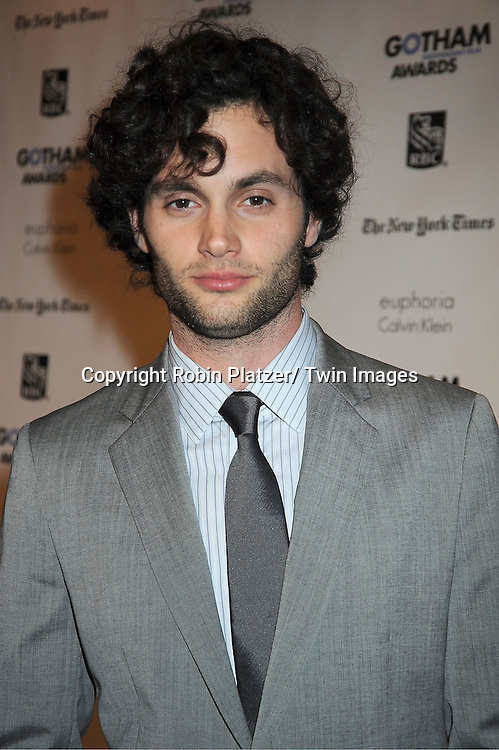 Pen Badgley attends IFP'S 21st Annual Gotham Independent Film Awards on November 28, 2011 at Cipriani Wall Street in New York City.