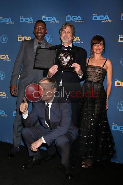 Mahershala Ali, Peter Farrelly, Linda Cardellini, Viggo Mortensen<br /> at the 71st Annual Directors Guild Of America Awards Press Room, Dolby Ballroom, Hollywood, CA 02-02-19<br /> David Edwards/DailyCeleb.com 818-249-4998
