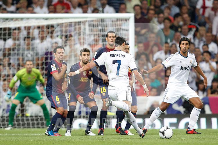 Real Madrid's Cristiano Ronaldo during Spanish Supercup 2nd match on august 29 2012...Photo: Cesar Cebolla / ALFAQUI