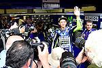 Mugello. italia. motociclismo. <br /> Gran Premio d'Italia TIM during the world championship of motorcycle<br /> Circuito de mugello<br /> a 25/05/2014 <br /> En la foto :  box <br />valentino rossi<br />PHOTOCALL3000/RM