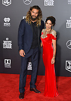 Jason Momoa &amp; Lisa Bonet at the world premiere for &quot;Justice League&quot; at The Dolby Theatre, Hollywood. Los Angeles, USA 13 November  2017<br /> Picture: Paul Smith/Featureflash/SilverHub 0208 004 5359 sales@silverhubmedia.com