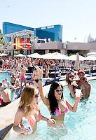 Wet Republic Beach Club at MGM Casino and Resort. Las Vegas, Nevada, USA