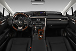 Stock photo of straight dashboard view of 2018 Lexus RX 350L-4x2 5 Door SUV Dashboard