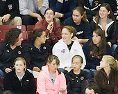 Past and present members of the BC women's team were in attendance including Kristina Brown, Alex Carpenter, Megan Miller, Courtney Kennedy, Maggie Taverna, Molly Schaus, Katelyn Kurth, Kate Leary, Dru Burns, Megan Shea and ?. - The Boston College Eagles defeated the visiting University of Massachusetts-Amherst Minutemen on Friday, October 21, 2011, at Kelley Rink at Conte Forum in Chestnut Hill, Massachusetts.