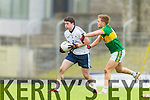 Kerry in action against Jason Lyne IT Tralee in the McGrath cup at Austin Stack Park on Sunday.