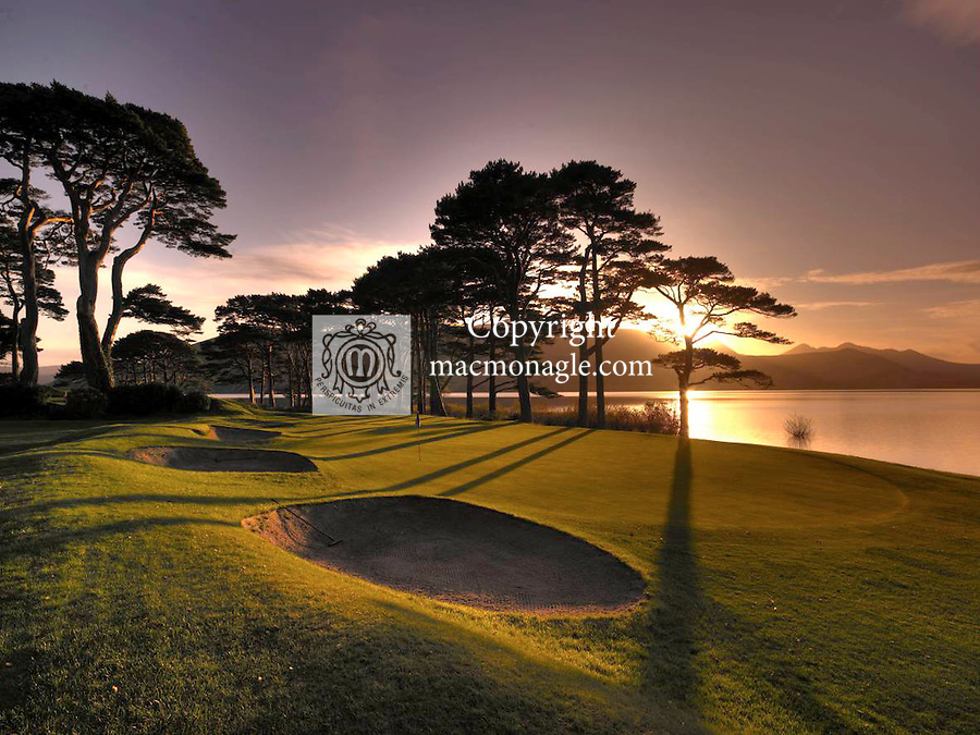 The 18th green at Mahony's Point, Killarney Golf Club..Picture by Don MacMonagle